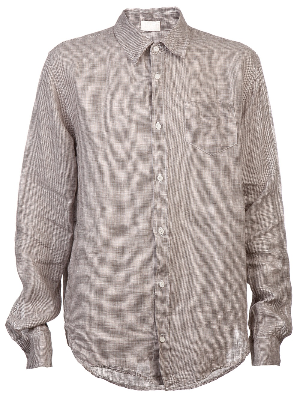 Cp Shades Fitted Linen Shirt In Brown For Men Lyst
