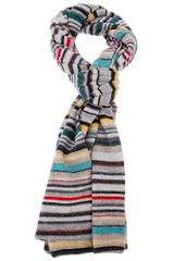 Paul Smith Striped Wool Scarf - Lyst