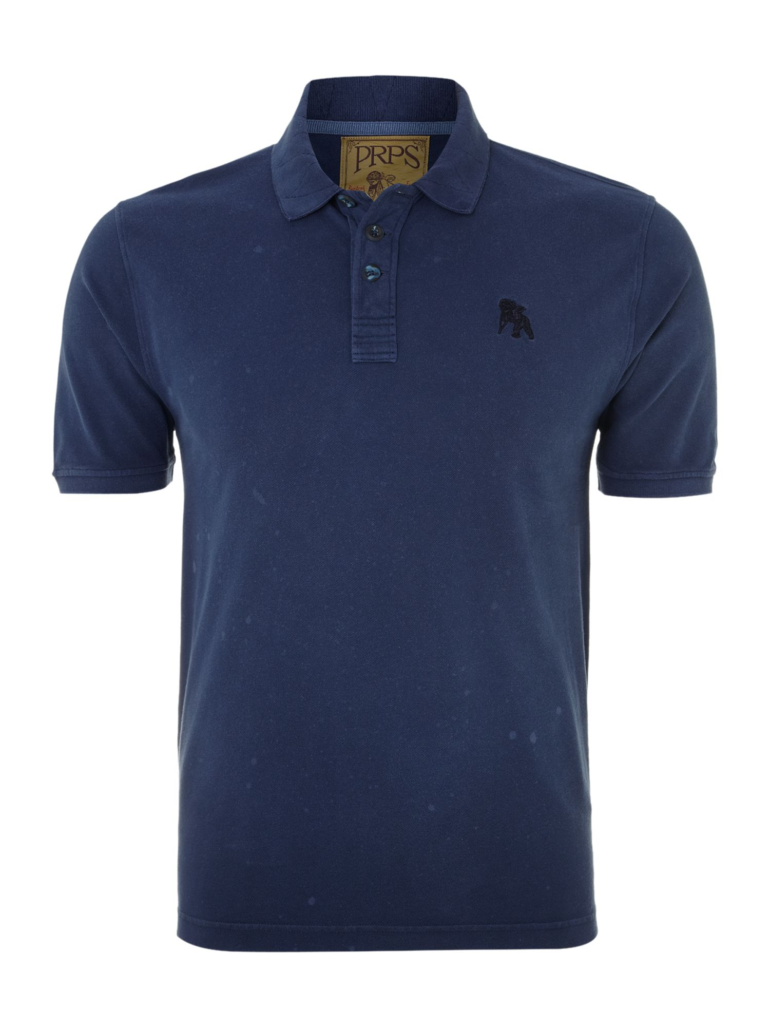 Prps classic three button polo shirt in blue for men navy for 3 button polo shirts