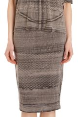Raquel Allegra Printed Pencil Skirt - Lyst
