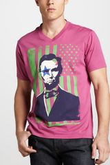 Robert Graham Lincoln Rocks Graphic Tee - Lyst