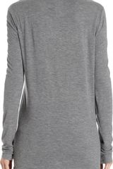T By Alexander Wang Single Pocket Long Sleeve Tee - Lyst