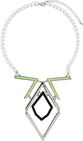 Topshop Lime Connection Collar - Lyst