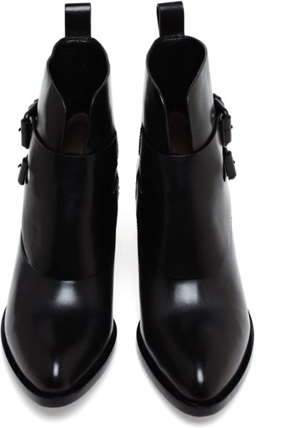 Alexander Wang Erin Buckled Leather Ankle Boots In Black