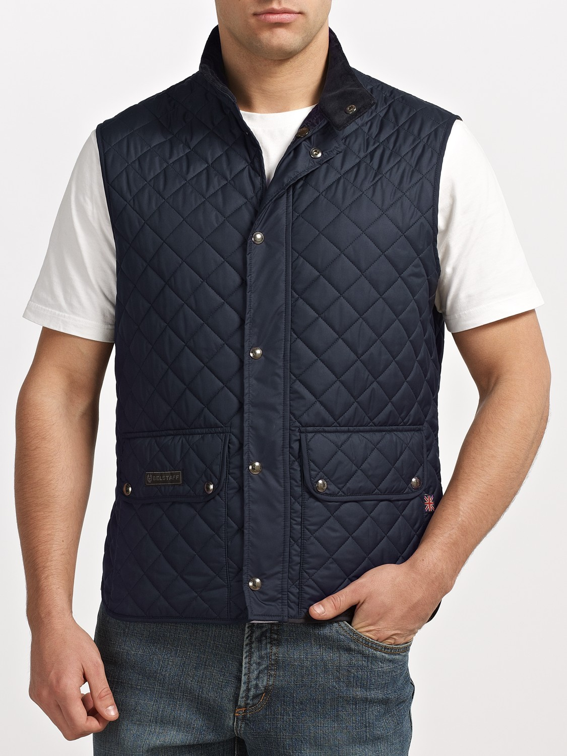 Belstaff Quilted Gilet in Blue for Men | Lyst : quilted gillet - Adamdwight.com