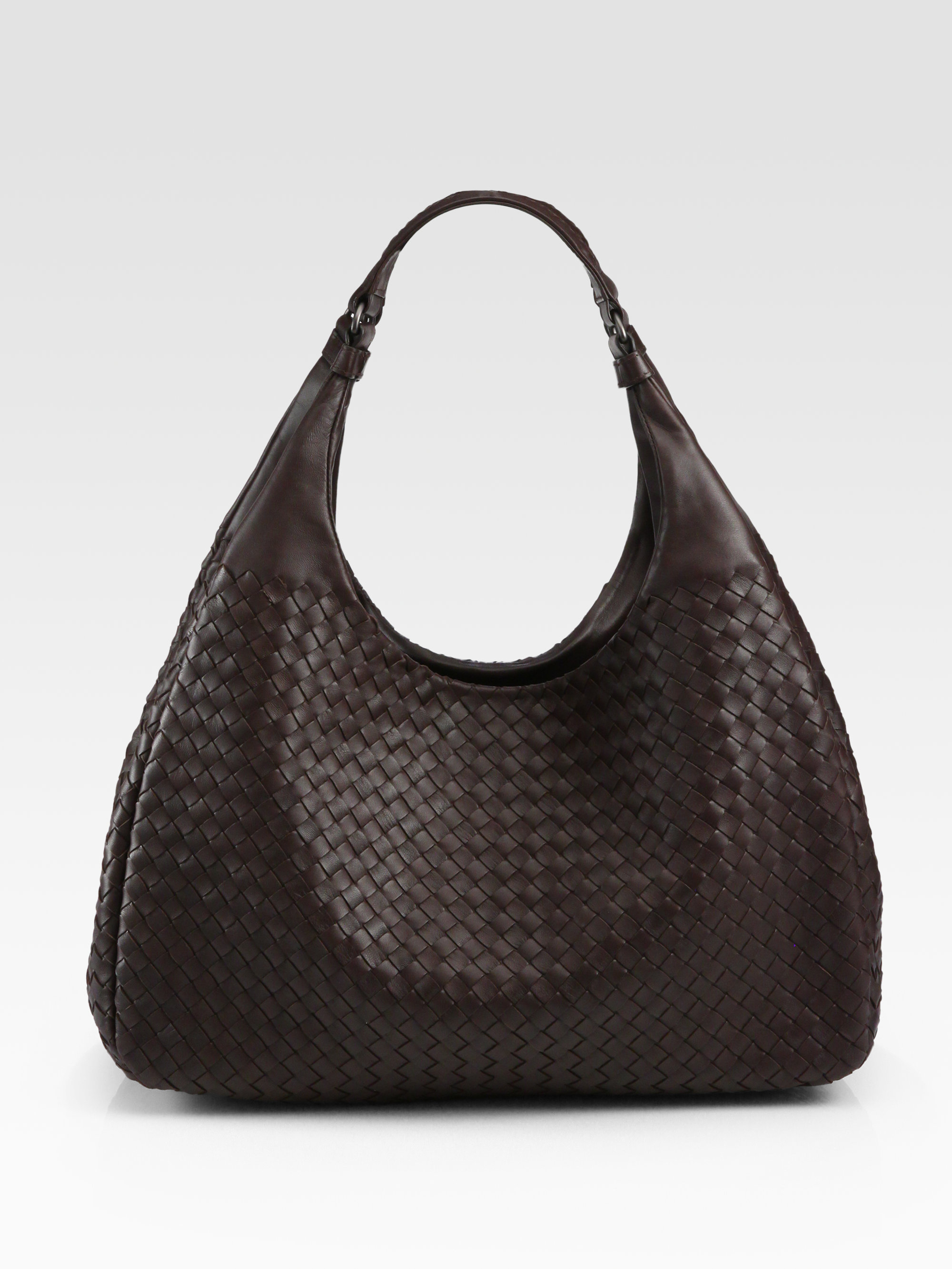 994a6bac99c7 Lyst - Bottega Veneta Large Campana Hobo Bag in Brown