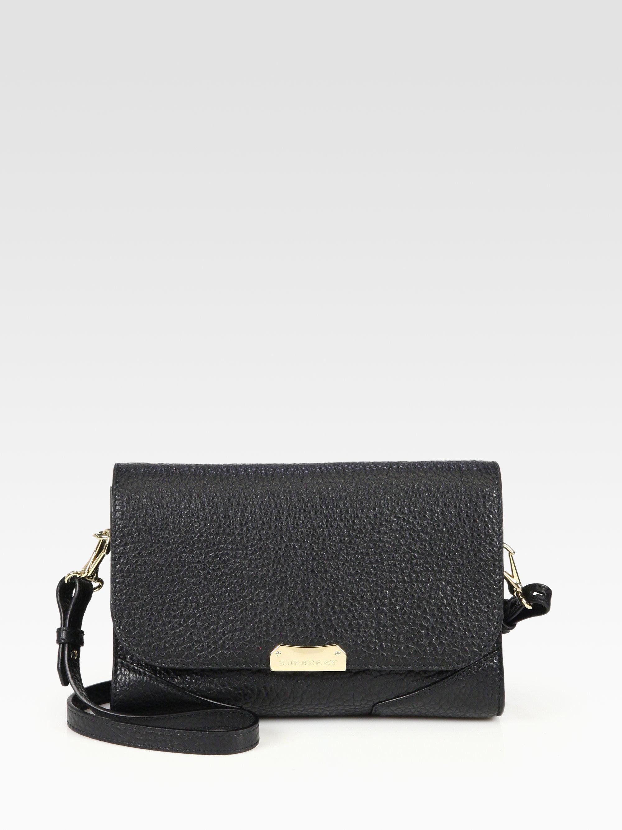 437b046aa5c2 Lyst - Burberry Abbott Small Crossbody Bag in Black