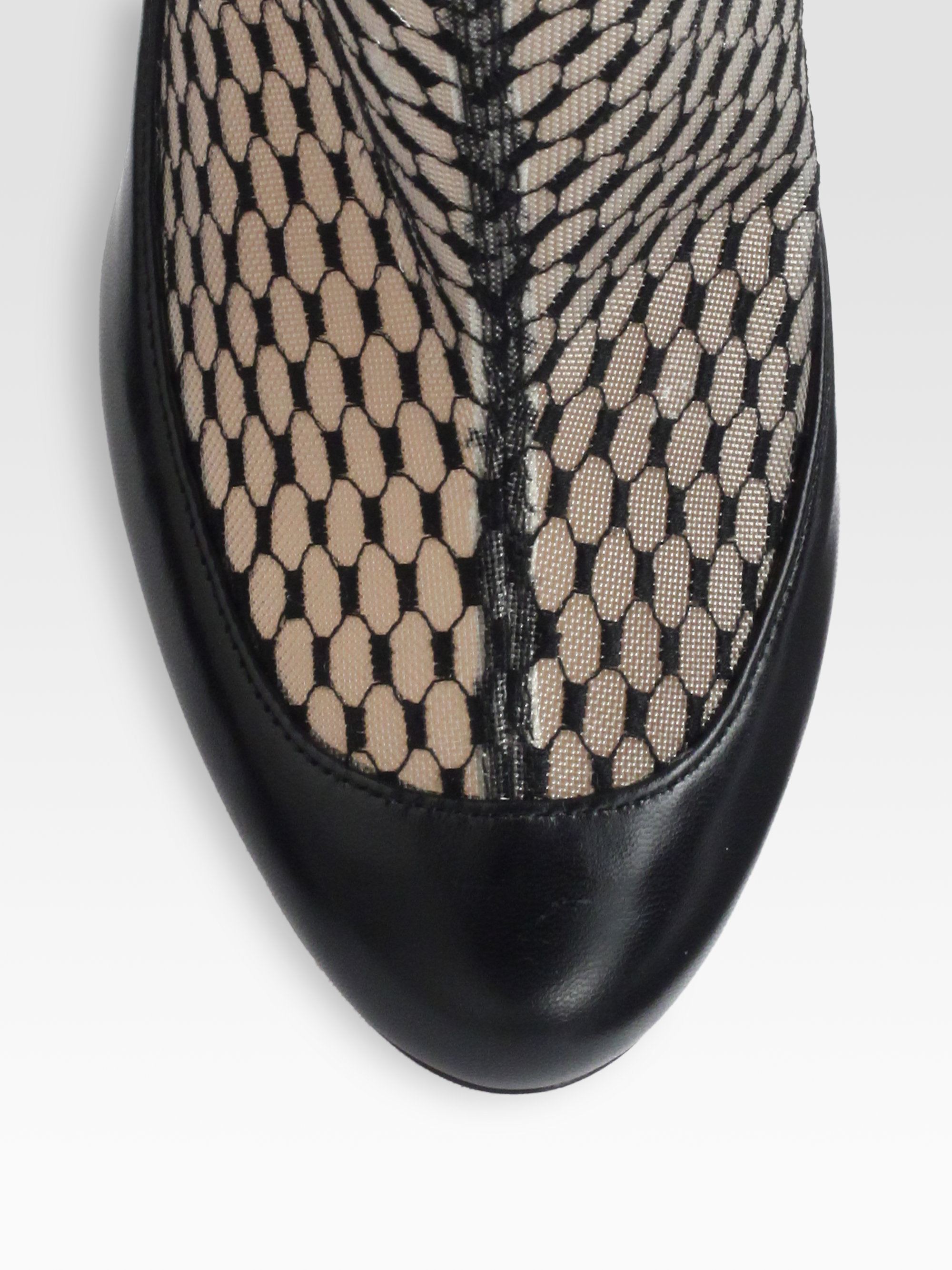 5424a134ed62 ... closeout lyst christian louboutin anna may lace leather ankle boots in  black 291f3 e7591