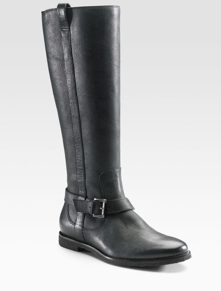 cole haan air flat boots in black lyst