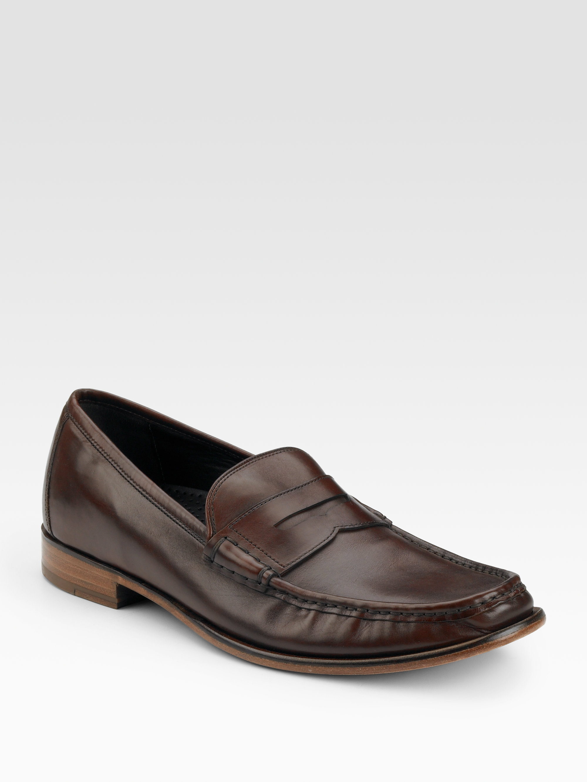 2be8fb05757 Lyst - Cole Haan Air Aiden Penny Loafers in Brown for Men