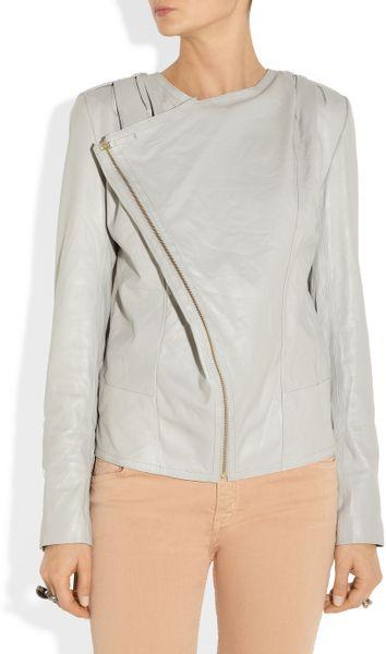 Day Birger Et Mikkelsen Day Lynne Leather Biker Jacket in Gray | Lyst