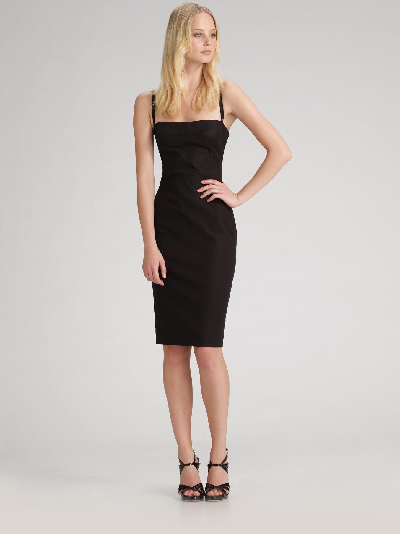 Dolce &amp- gabbana Bustier Sheath Dress in Black - Lyst