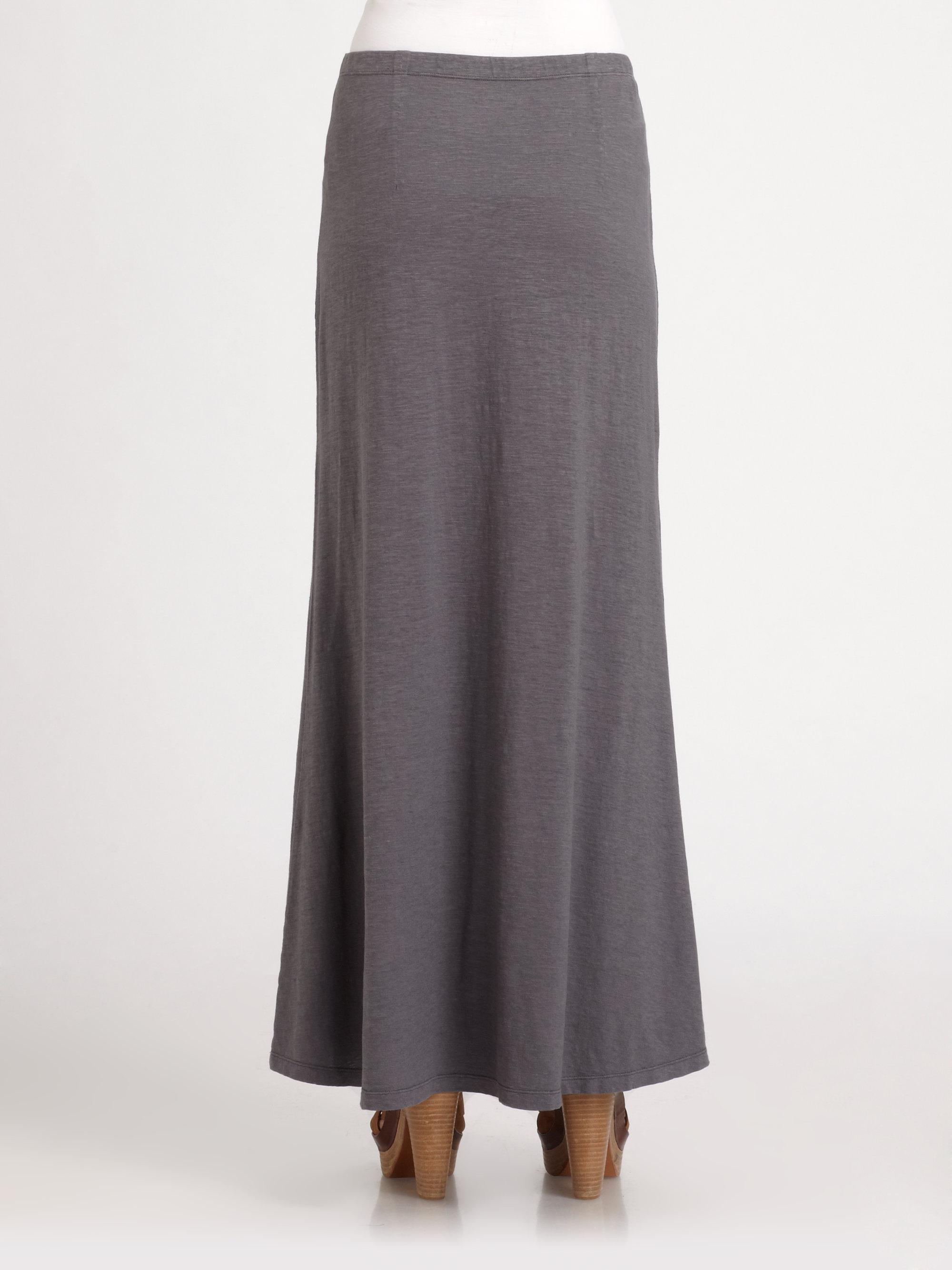 Eileen Fisher Slub Hemp Cotton Maxi Skirt In Gray Lyst