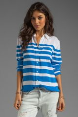 Equipment Lucky Stripe Reese Blouse - Lyst