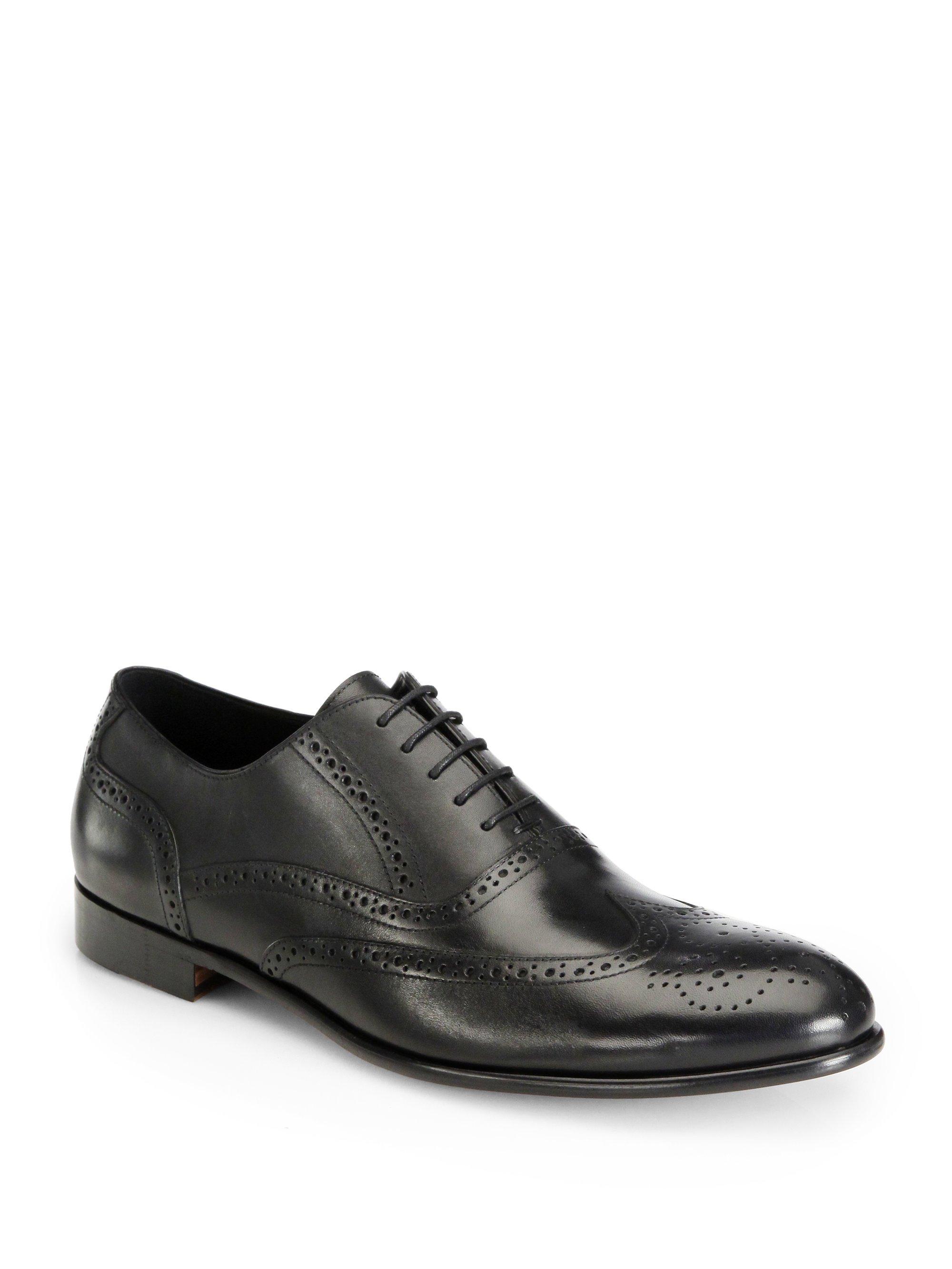 gordon pacific wingtip oxford dress shoe in black for