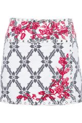Isabel Marant Printed Wrap around Denim Skirt - Lyst