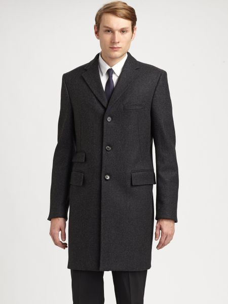 Jil Sander Vivaldi Wool Top Coat in Gray for Men (grey)