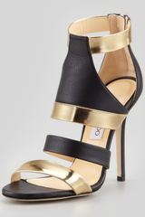 Jimmy Choo Besso Mixed leather Sandal - Lyst