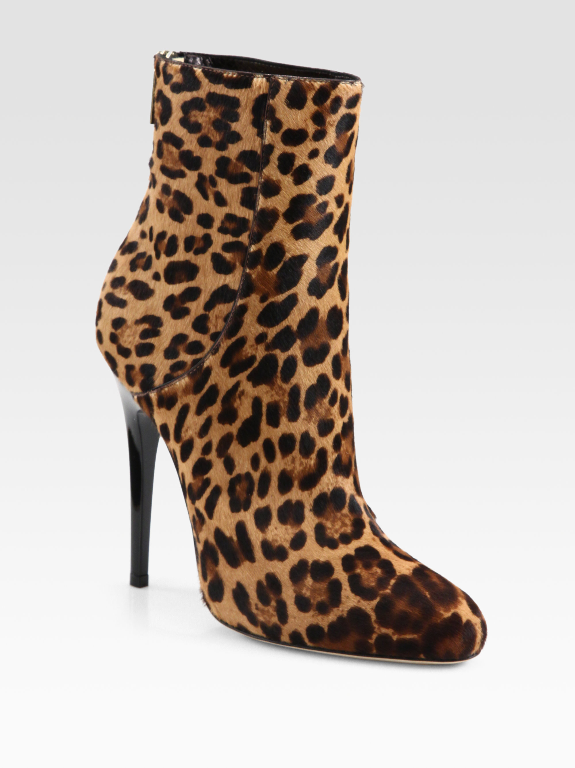 a5dc226f324 Lyst - Jimmy Choo Brinely Leopard-print Haircalf Ankle Boots