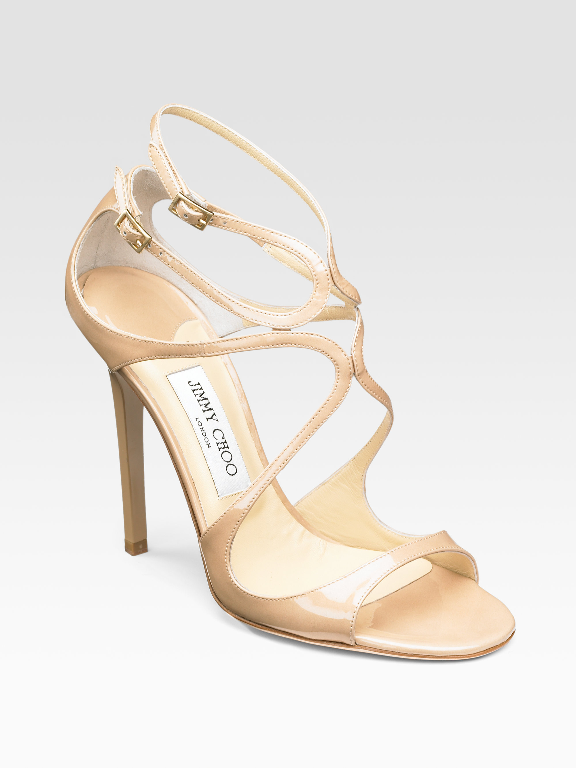visit new Jimmy Choo Leather Patent Leather-Trimmed Sandals get to buy sale online great deals for sale cheap 2014 new wmNSPjdcQe
