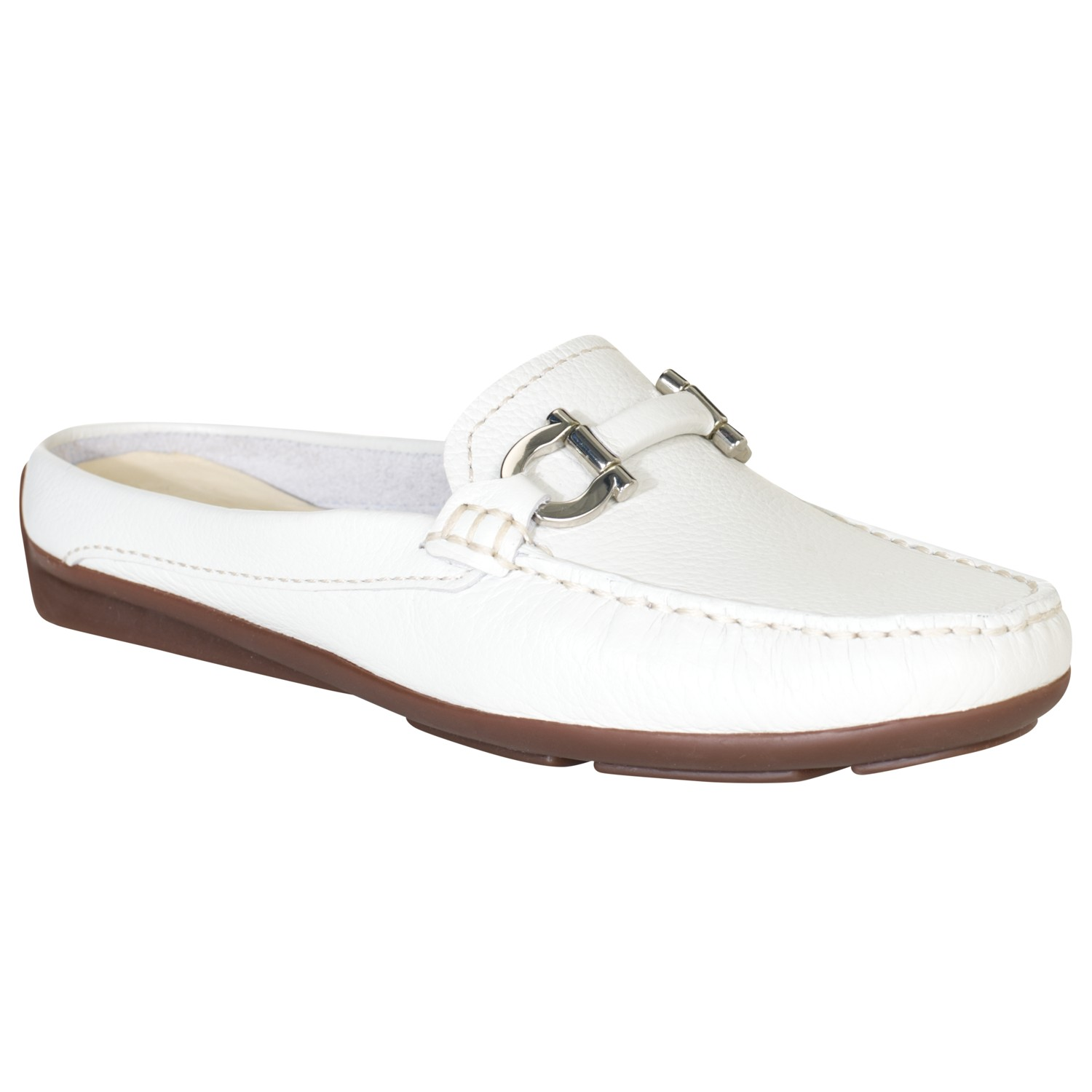 Ladies White Loafers Shoes