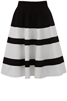 Karen Millen Cotton Skirt - Lyst
