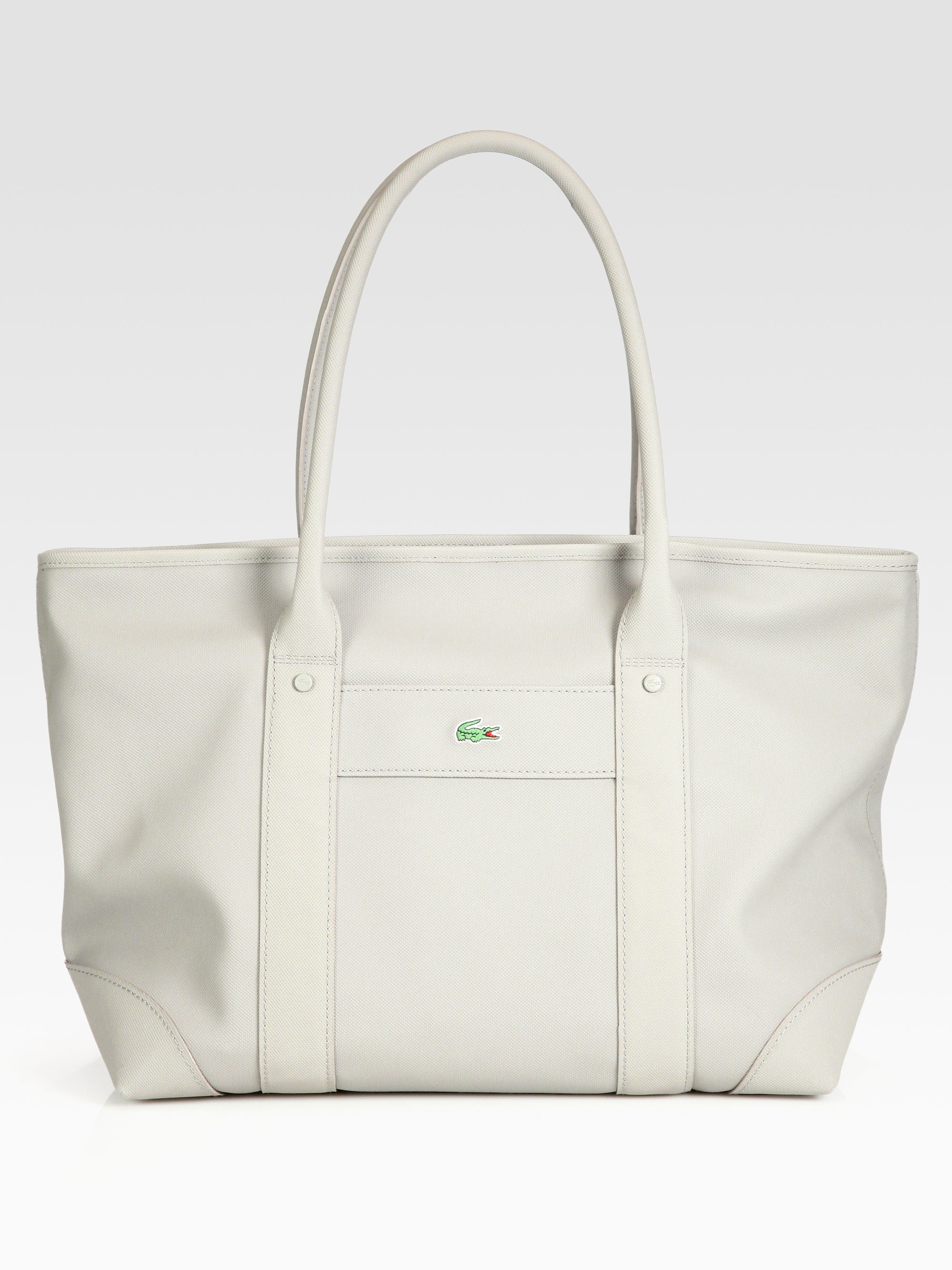 897fa0eb3dbb Lyst - Lacoste Classic Shopping Bag in White