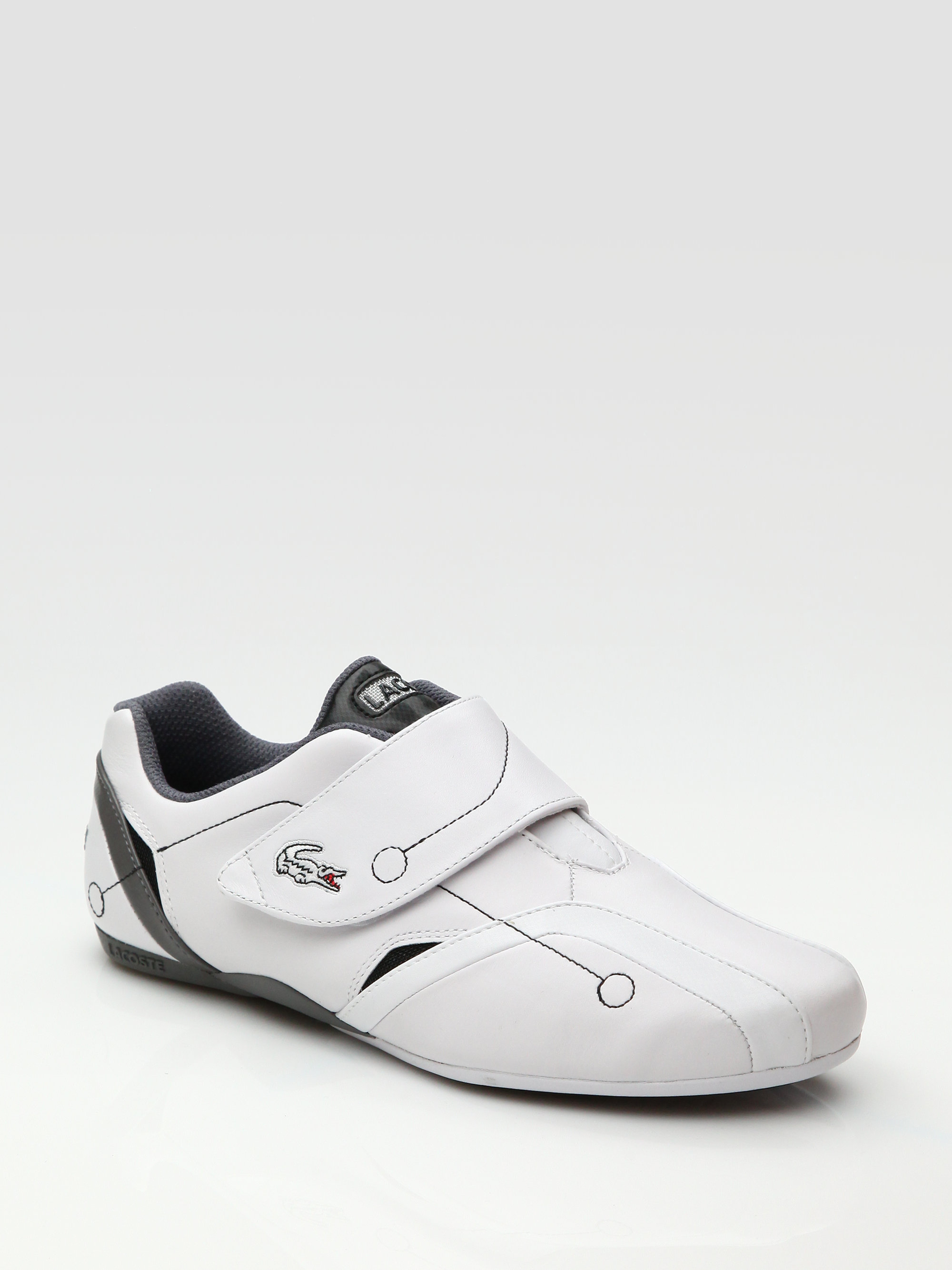 10f20fa1e Lyst - Lacoste Protect M Leather Sneakers in White for Men