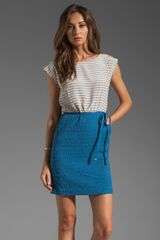 Marc By Marc Jacobs Veronica Dot Dress in Bluestone Multi - Lyst