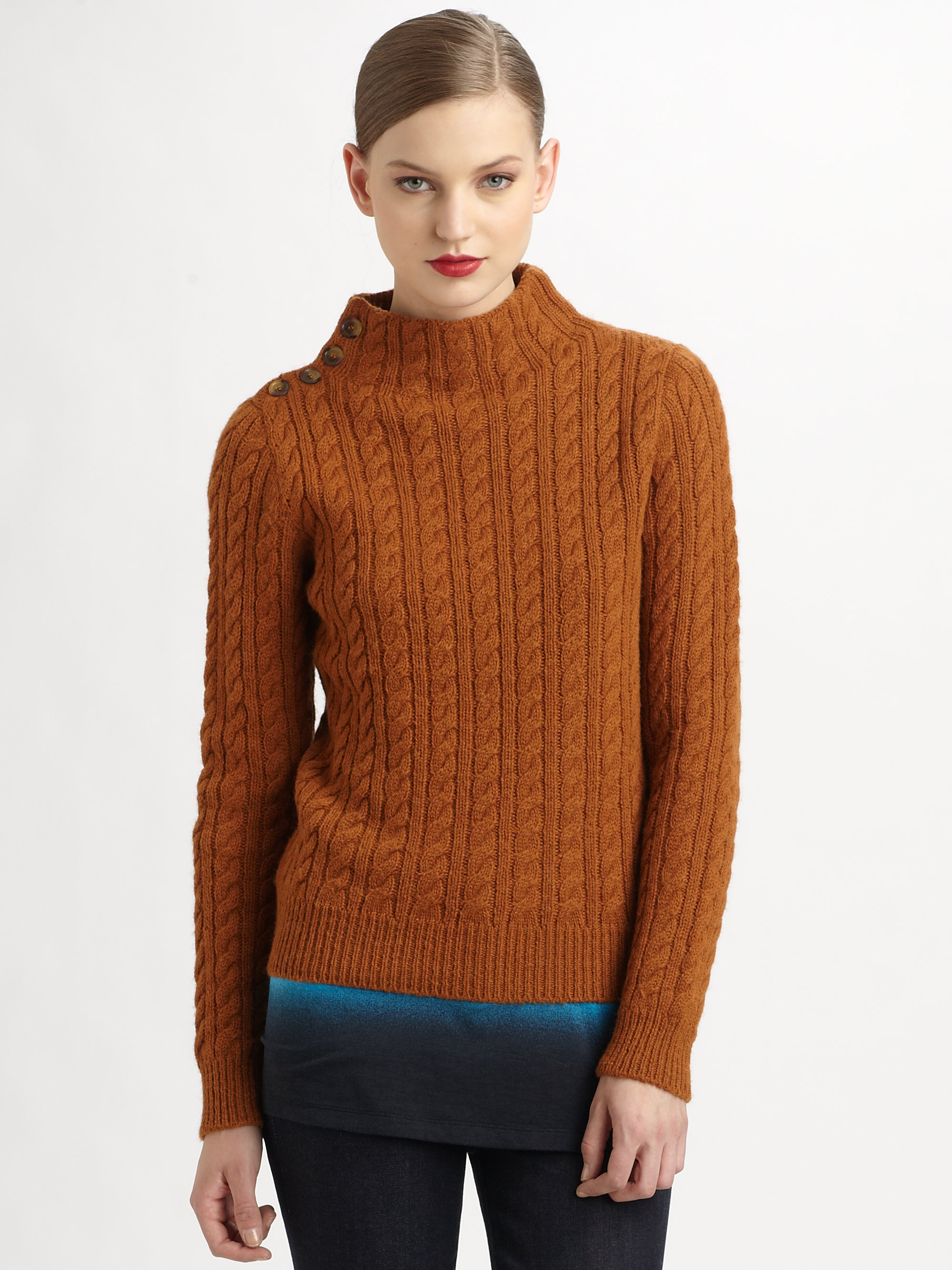 Marc by marc jacobs Mira Wool Sweater in Orange | Lyst