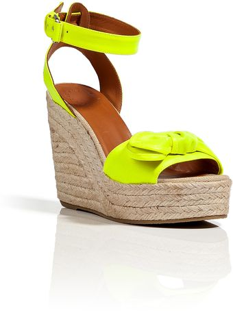 Marc By Marc Jacobs Canvas Wedge Sandals in Yellow - Lyst