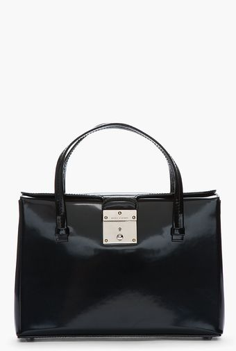 Marc Jacobs Black Patent Leather and Nickel The Carnaby Tote - Lyst