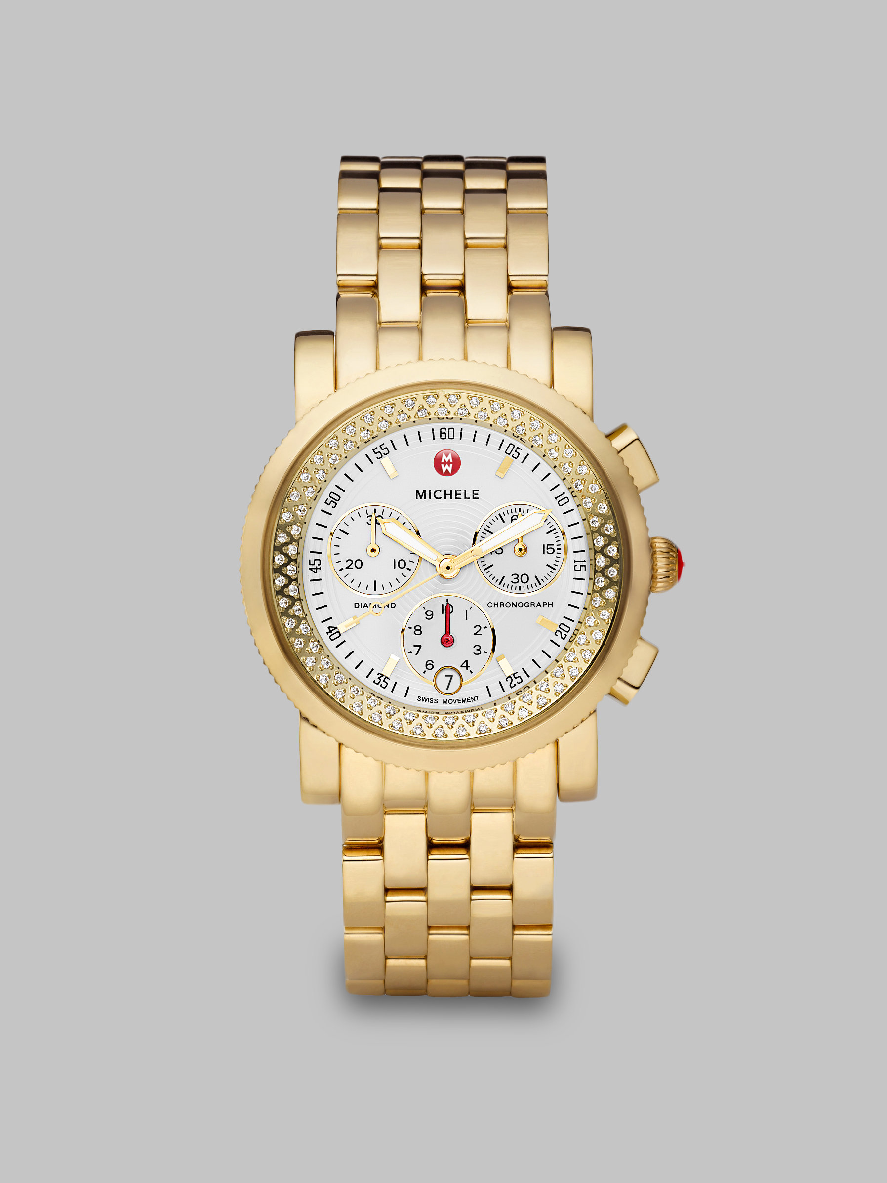 michele accented gold tone stainless steel