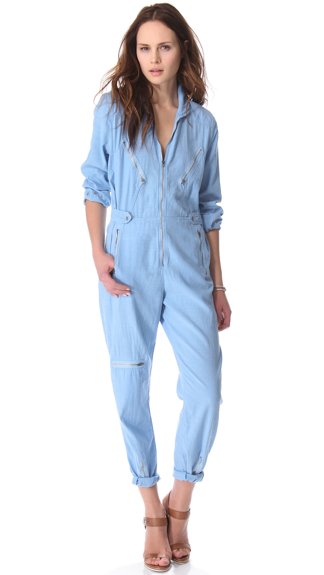 dd51fb393078 Lyst - M.i.h Jeans Boiler Jumpsuit in Blue