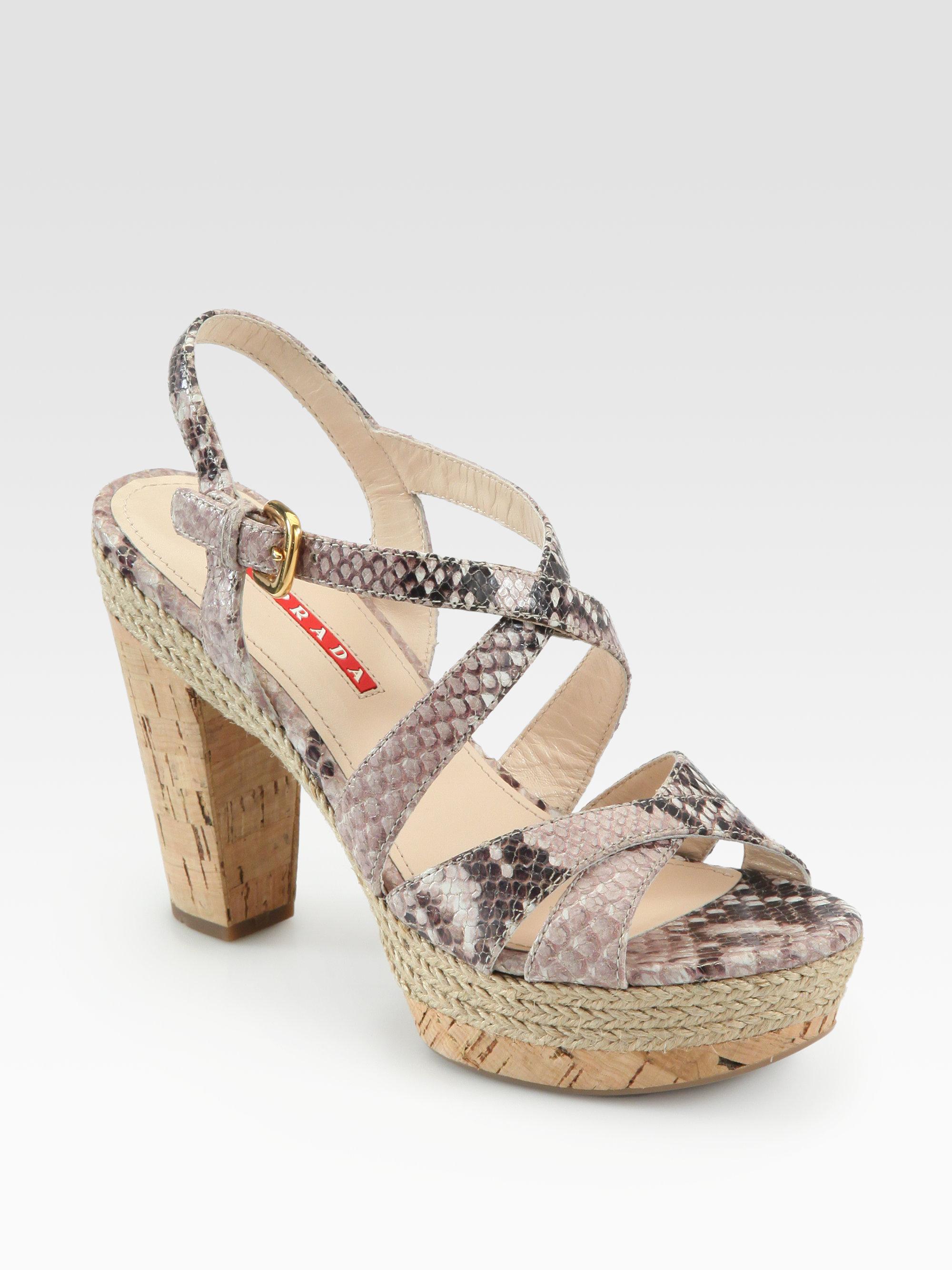 Prada Python T-Strap Sandals buy cheap marketable cheap supply find great cheap online new arrival cheap online pQiX8mdE