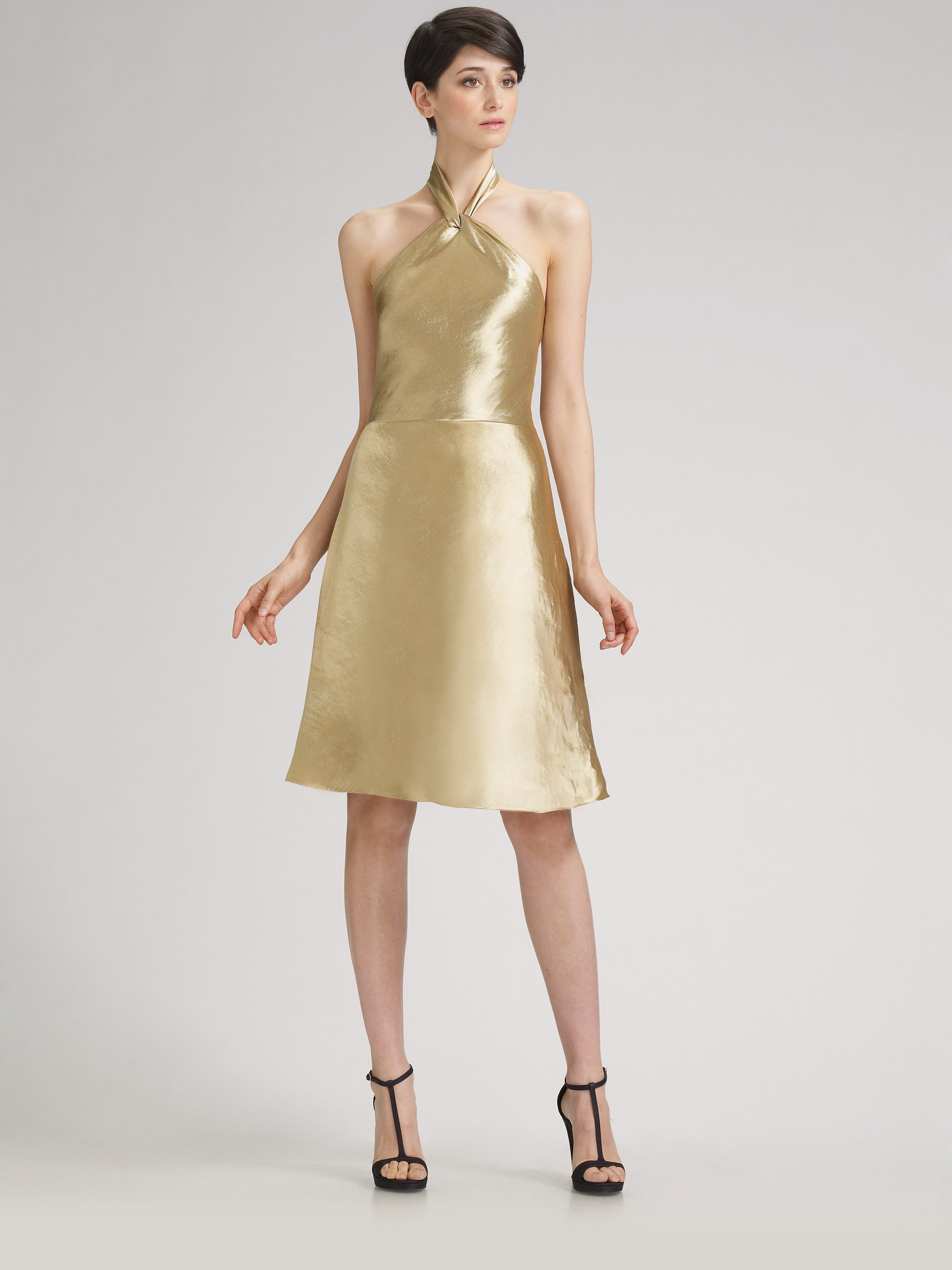 Silk Halter Dress
