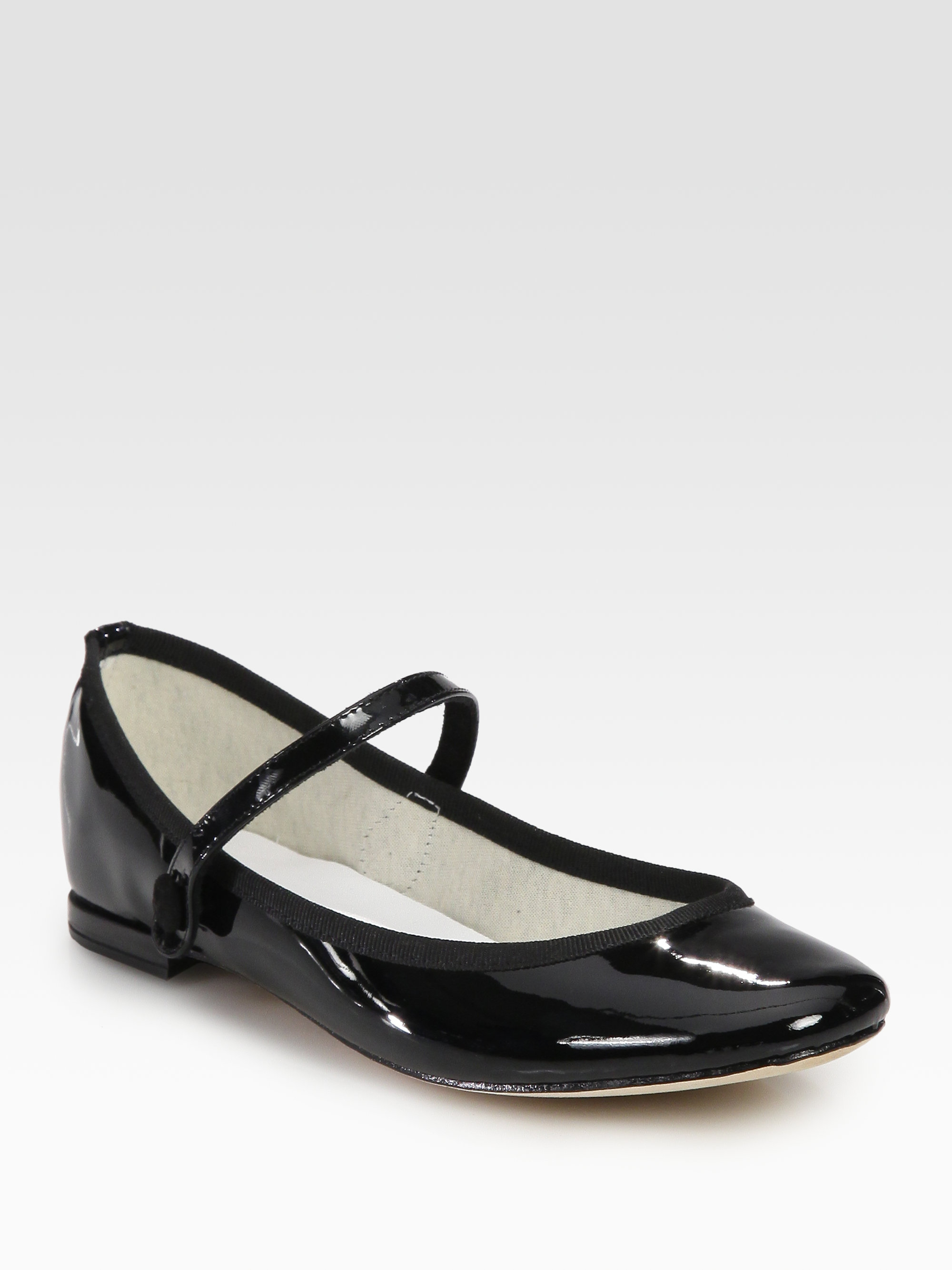 Black Patent School Shoes Pumps