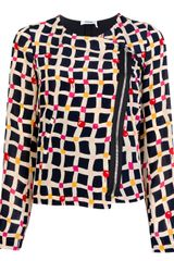 Sonia By Sonia Rykiel Printed Silk Jacket - Lyst