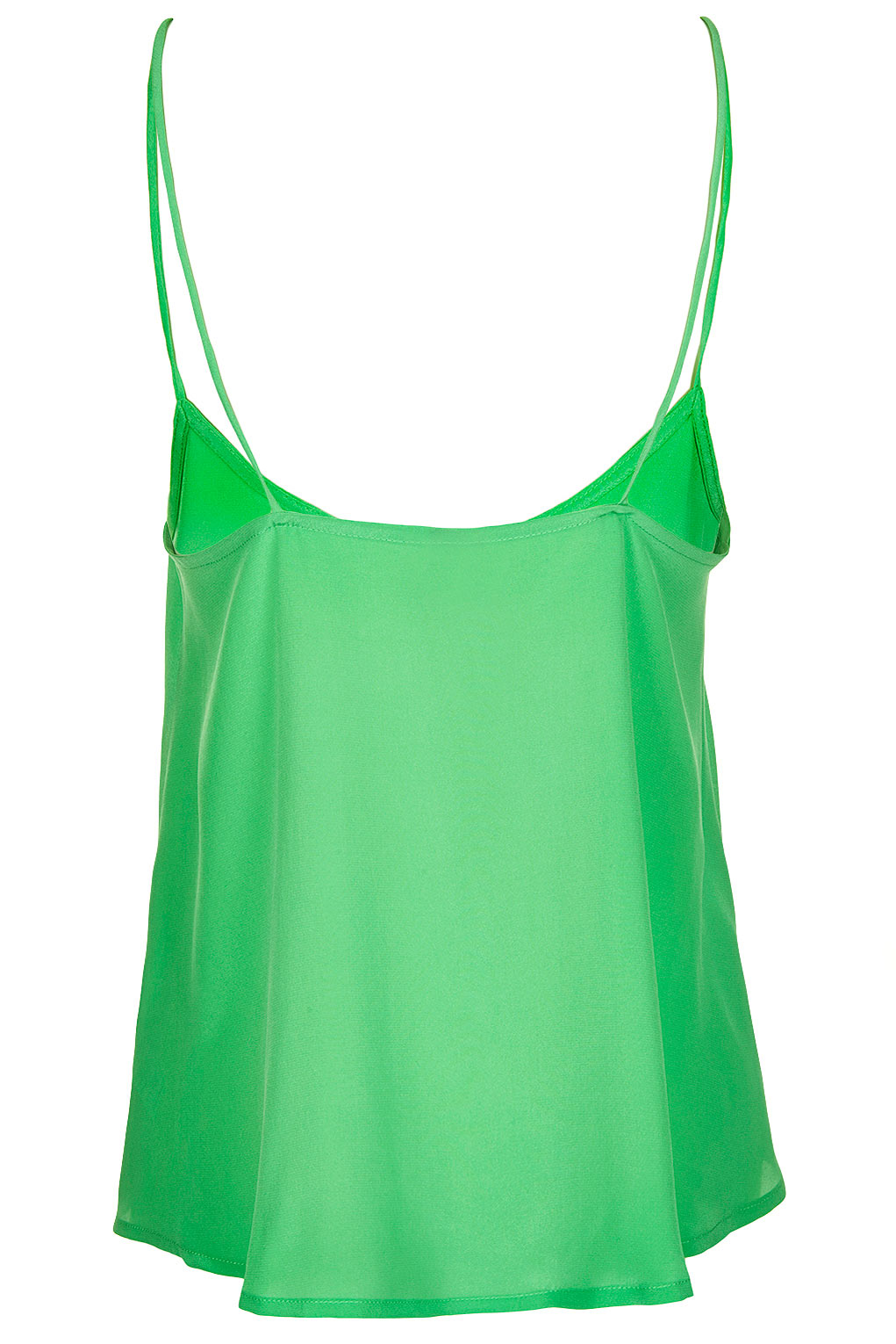 Lyst topshop silk cami by boutique in green for Apple green dress shirt