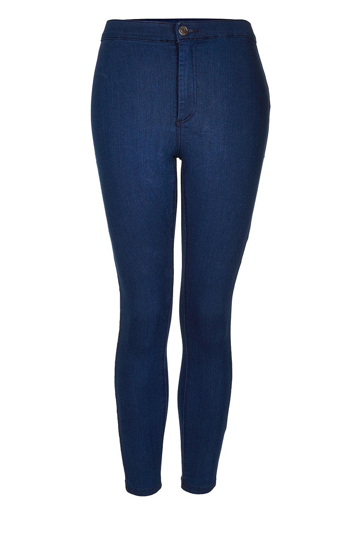 topshop petite moto joni jeans in blue lyst. Black Bedroom Furniture Sets. Home Design Ideas