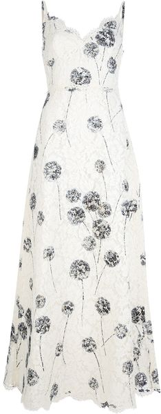 Valentino Full Length Lace Dress - Lyst