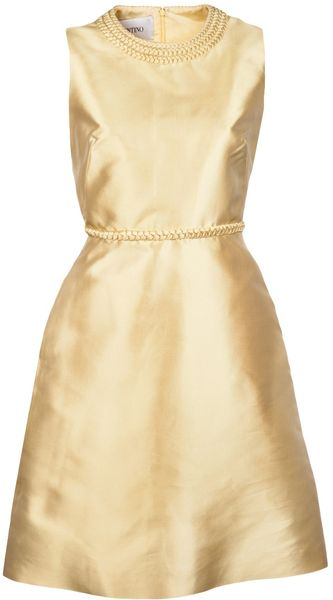 Valentino Sleeveless Braid Dress - Lyst