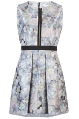Victoria, Victoria Beckham Flared Dress - Lyst