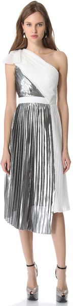 Viktor & Rolf One Shoulder Pleated Dress - Lyst