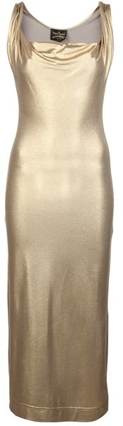 Vivienne Westwood Anglomania Gold Dress - Lyst
