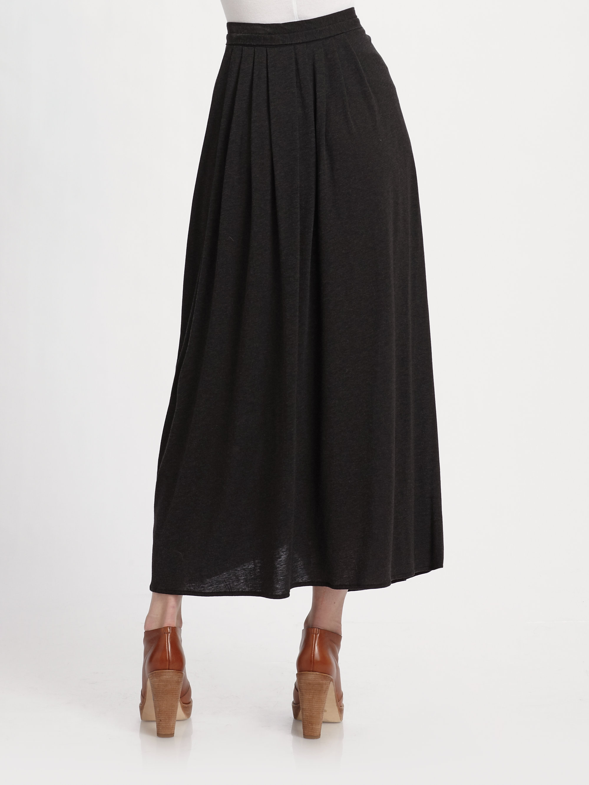 weekend by maxmara knitted maxi skirt in black lyst