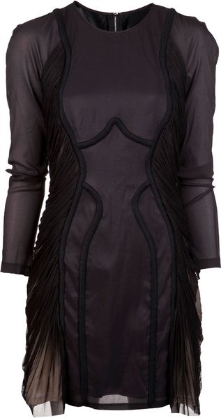 Willow Embroidery Draped Dress - Lyst