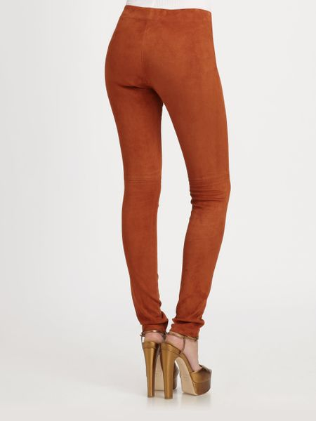New Michael Lauren Derby Pant In Burnt Orange