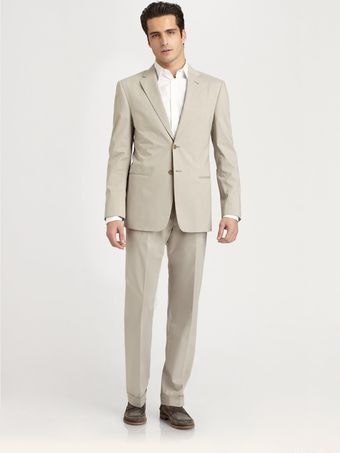 Armani Cotton Summer Suit - Lyst