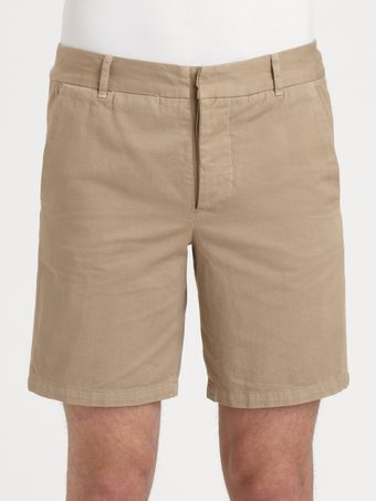 Band Of Outsiders Cotton Chino Shorts - Lyst